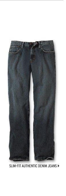 Slim Fit Authentic Denim Jeans