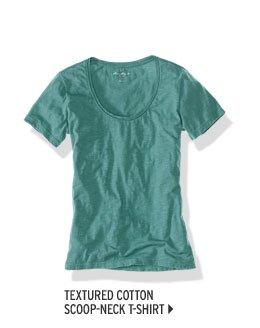 Textured Cotton Scoop-Neck T-Shirt