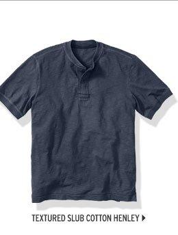Slub Cotton Henley Shirt