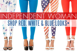 Independent Woman: Red, White, & Blue