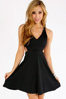 CUT OUT V-TANK SKATER DRESS 36