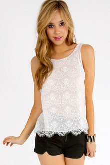 OPEN BACK OLGA LACE TANK 29