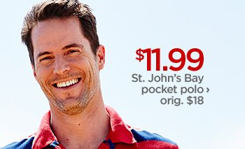 $11.99 St. John's Bay pocket polo › orig. $18