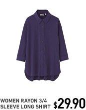 rayon-3-4-sleeve-long-shirt