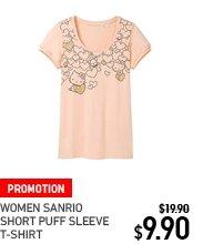 sanrio-short-puff-sleeve-t-shirt