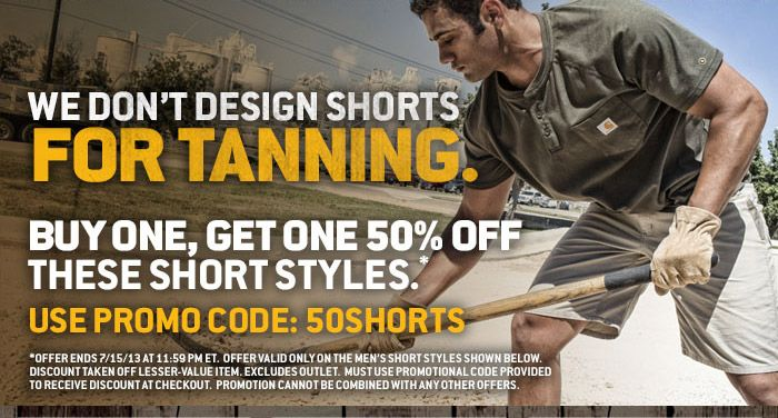 BOGO 50% Off These Carhartt Short Styles