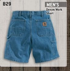 Men's Denim Work Short