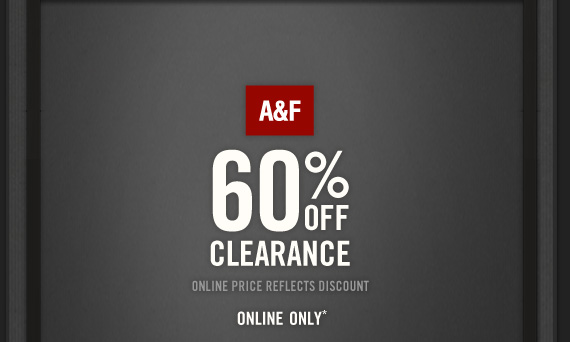 A&F 60% OFF CLEARANCE ONLINE PRICE  REFLECTS DISCOUNT ONLINE ONLY*