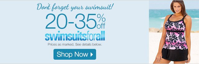 20-35% off swimsuitsforall