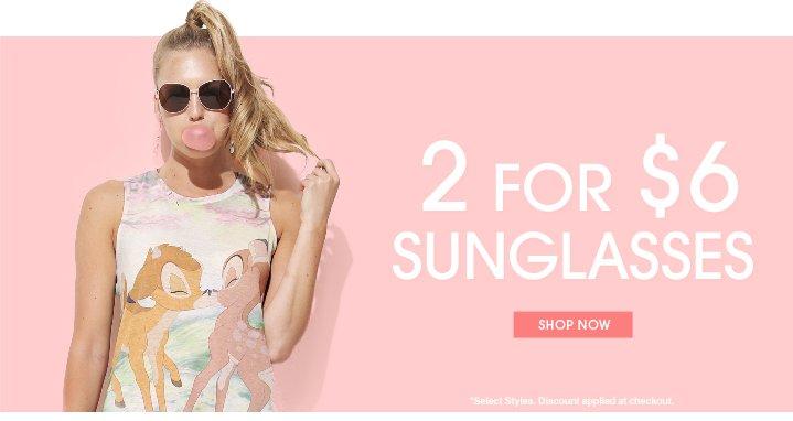 Shop 2 For $6 Sunglasses
