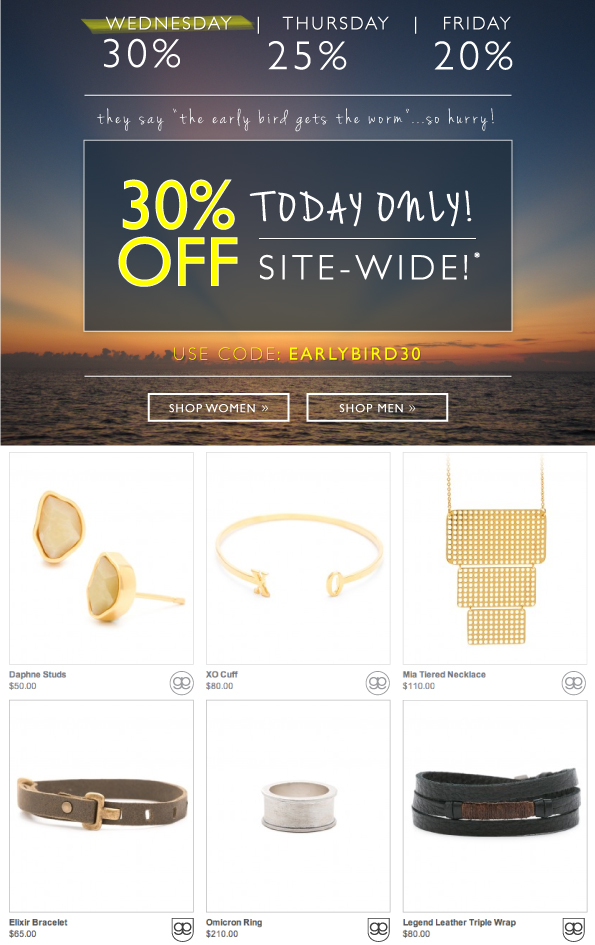 30% Off Today Only!