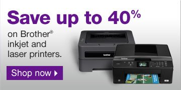 Save up  to 40% on Brother inkjet and laser printers. Shop now.