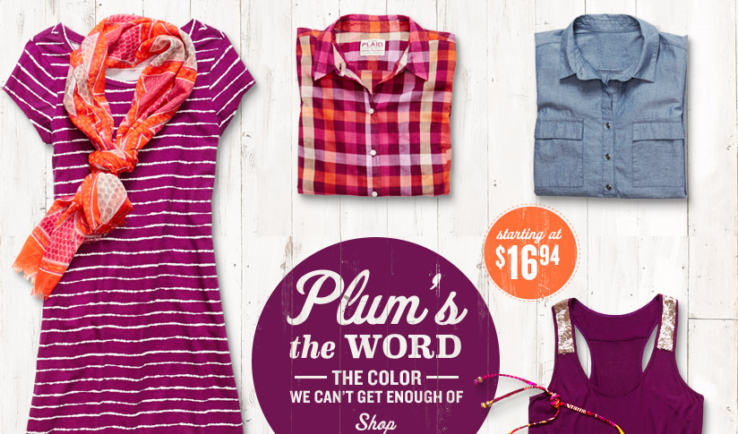 Plum's the WORD —THE COLOR— WE CAN'T GET ENOUGH OF | SHOP | starting at $16.94