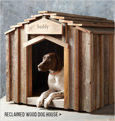 RECLAIMED WOOD DOG HOUSE