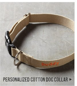 PERSONALIZED COTTON DOG COLLAR