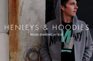 Henleys & Hoodies