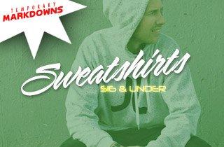 Sweatshirts $16 & Under