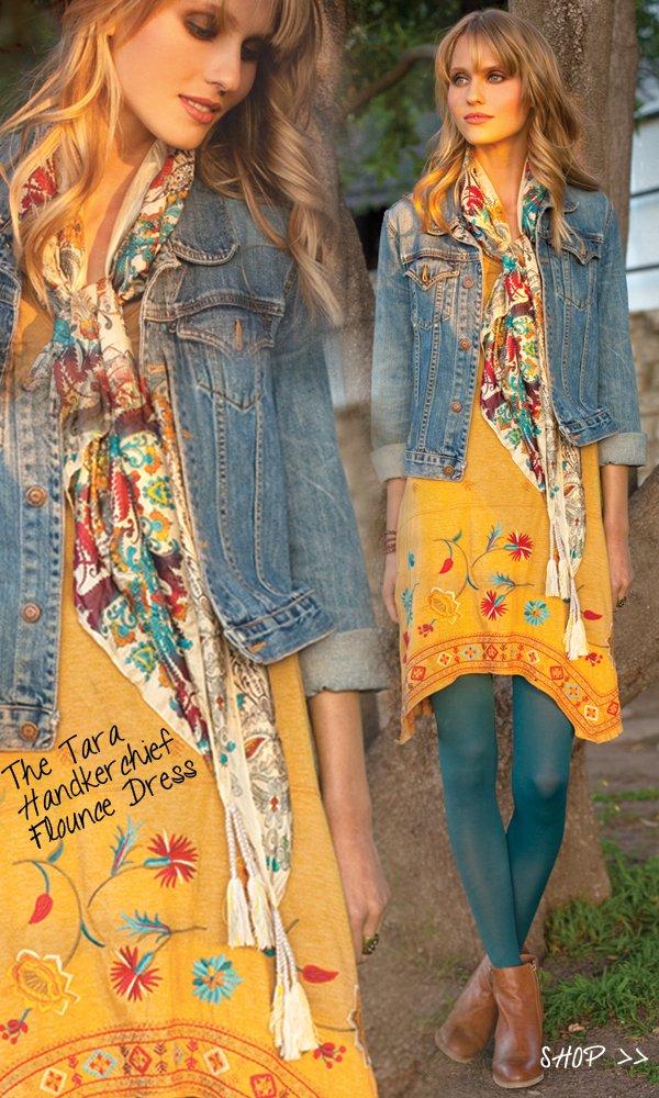 tara handkerchief dress