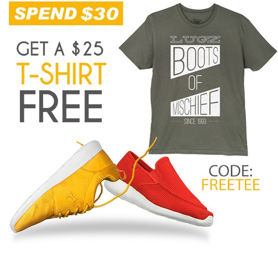 Free Tee When you Spend $30