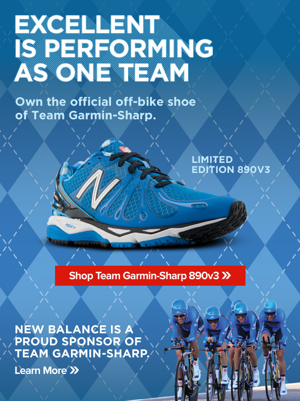 Excellent is performing as one team - Own the official off bike shoe of Team Garmin-Sharp - Shop Limited Edition 890v3
