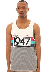 The 19 Sporty 7 Tank Top in White