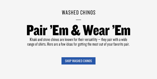 Shop Washed Chinos