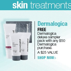 FREE Meet Dermalogica deluxe sampler pack with any $50 Dermalogica purchase. A $25 VALUE! SHOP NOW
