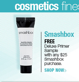FREE  Deluxe Primer Sample  with any $25 Smashbox