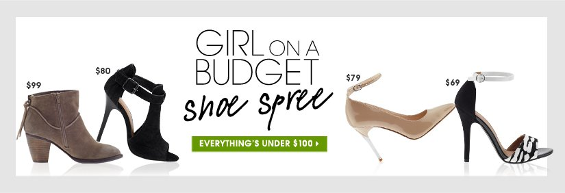 GIRL ON A BUDGET shoe spree. EVERYTHING'S UNDER $100