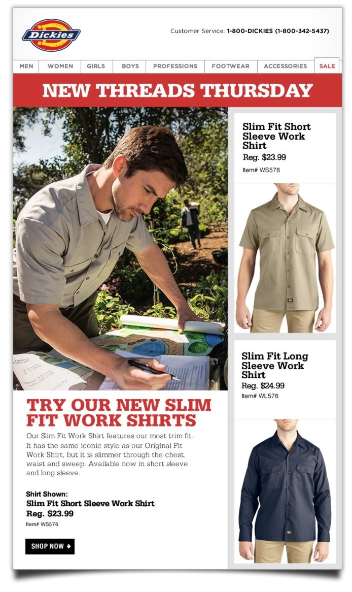 New Threads Thursday: Slim Fit Work Shirts. Our Slim Fit Work Shirt features our most trim fit.