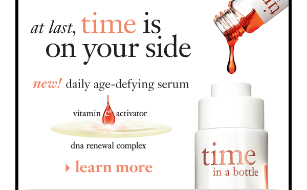 at last, time is on your side new! daily age-defying serum