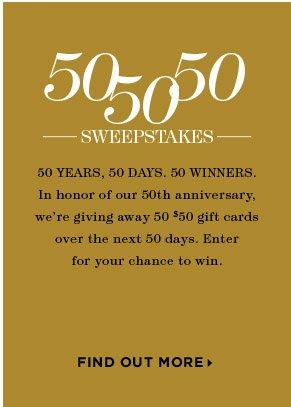 50 50 50 SWEEPSTAKES