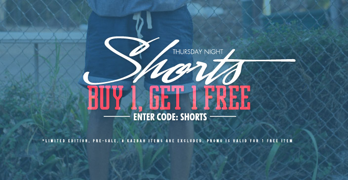 Shorts are Buy 1, Get 1. Click to Shop.