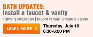 Install a faucet & vanity