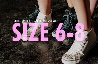 Just Your Size Footwear: Size 6-8