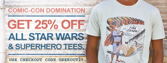 Get 25% Off All Star Wars Tees!