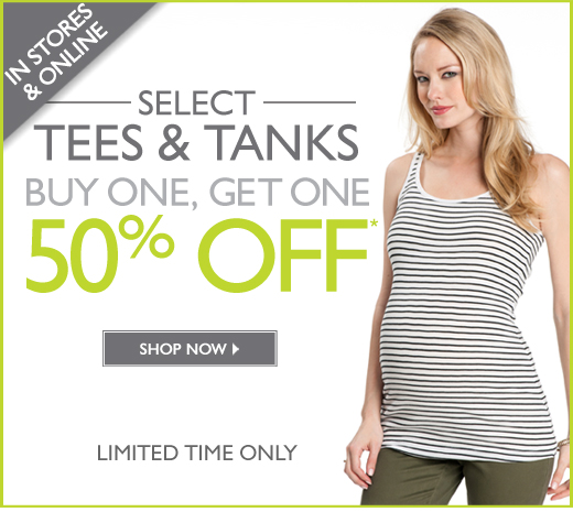 Select Tees & Tanks - Buy One Get One 50% Off