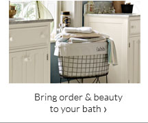 Bring order & beauty to your bath
