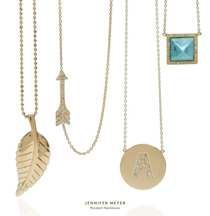 Perfectly pretty: Shop diamond necklaces and more by Jennifer Meyer.
