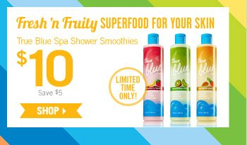 True Blue Spa Shower Smoothies – $10
