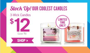 Select 3-Wick Candles – $12
