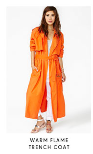 Warm Flame Trench Coat