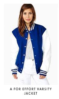 A For Effort Varsity Jacket