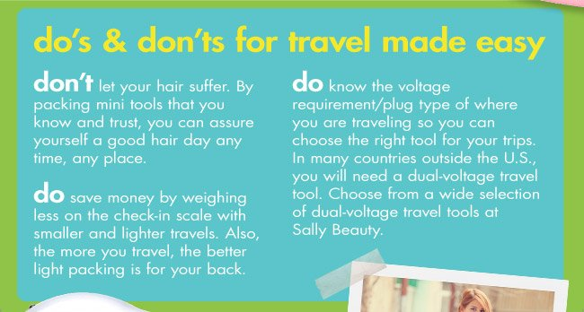 do's & don'ts for travel made easy