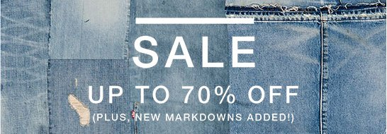 Sale up to 70% off (plus, new markdowns added!)