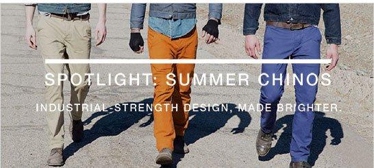 Spotlight: summer chinos