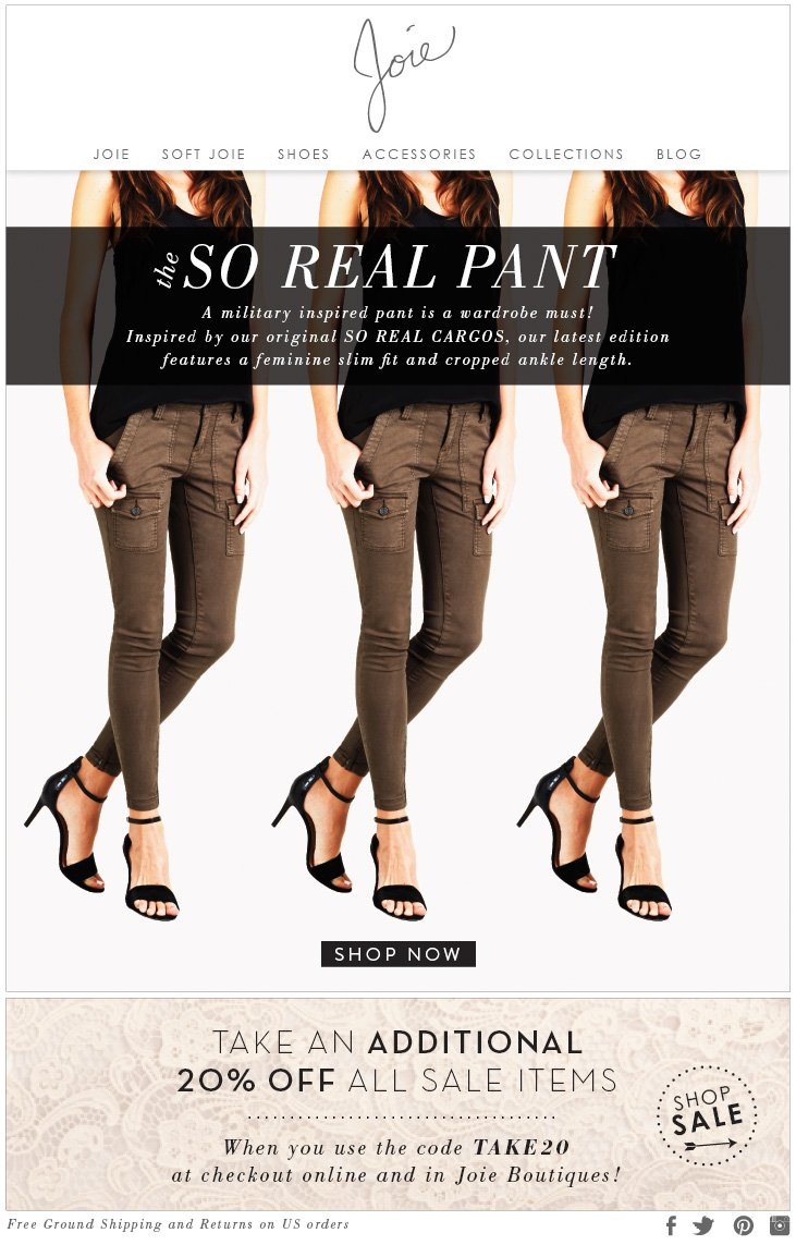 the SO REAL PANT A military inspired pant is a wardrobe must! Inspired by our original SO REAL CARGOS, our latest edition features a feminine slim fit and cropped ankle length.