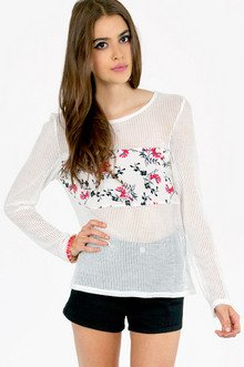 NETTIE FLORAL BANDED TOP 30