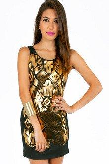 TOMAHAWK GOLD DRESS 39