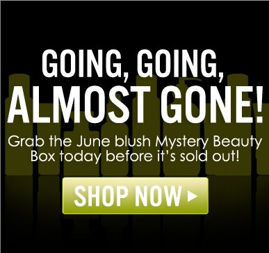 Going, Going, Almost Gone! Get the June blush Mystery Beauty Box before it's sold out! Shop Now>>